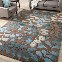 Blue room rug online shopping - High Quality Abstract Flower Art For Living Room Bedroom Anti slip Floor Mat Fashion Kitchen Carpet Area Rugs Q190603