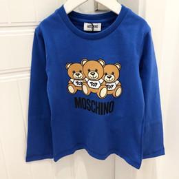 Großhandel Kinder Designer Hoodies Luxus Bär Muster mit langen Ärmeln Mode Buchstaben Mädchen Sweatshirt Jungen Pullover 2019 New Childs Kleidung Großhandel.