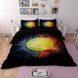 modern 3d bedding set UK - Basketball Tennis Bedding Set Sports Duvet Cover With Pillowcases Single Twin Double Full Queen King Size