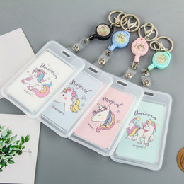 $enCountryForm.capitalKeyWord Australia - Cartoon Retractable Card Holder Women Business Credit Card Cover For Kids Cute Unicorn Rabbit Cactus Id Badge Card Case Female