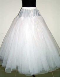 Une ligne 4 couches sans cerceau jupon net jupon pour le bal de mariage de Quinceanera robes tailles réglables Crinoline