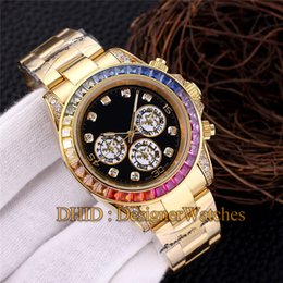 $enCountryForm.capitalKeyWord NZ - Luxury Watch Man Rainbow Diamond Bezel Mechanical Automatic Watch 18K 316L Stainless Steel Gold Wristwatches No Chronograph
