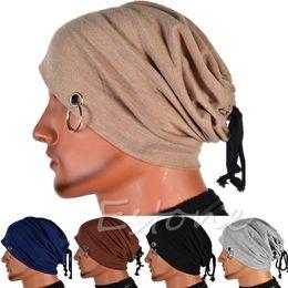 $enCountryForm.capitalKeyWord Australia - Multifunction Men Ring Lacing Beanie Unisex Baggy Light Hip-Hop Skull Cap
