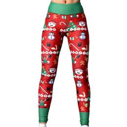 940d13528b Christmas Yoga Pants UK - New Christmas Yoga Fitness Leggings Woman Print  Hip High Waist Fitness