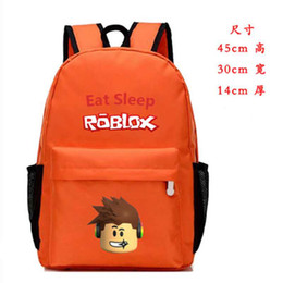 China Roblox RED ROSE DAY Cartoon Children School Bag Backpacks Boys Girls Book Rucksacks Action Figure Toys Kids Party Gifts suppliers