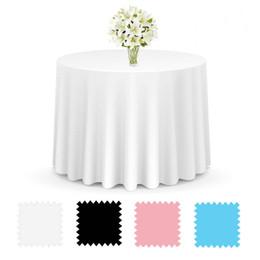 $enCountryForm.capitalKeyWord Australia - Satin Tablecloth 180 230cm Solid Color For Wedding Birthday Party Table Cover Round Table Cloth Home Decor