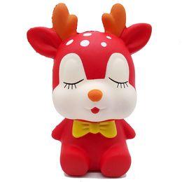 $enCountryForm.capitalKeyWord Australia - 2018 Hottest Squishy Lovely Deer Kawaii Red Reindeer Squishy Christmas Deer Bear Slow Rising Squeeze Decompress Toys Phone Charms Kids Gift