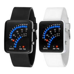 $enCountryForm.capitalKeyWord Australia - Hot LED Electronic Wrist Watch Sector Binary Digital Waterproof Fashion Unisex Couple Watches MSK66