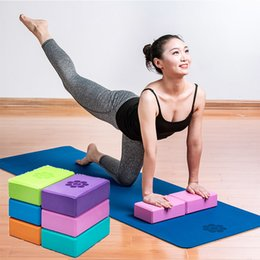 Black Blocks Australia - Yoga Block Brick 2pcs Exercise Foam Set Workout Fitness Bolster Pillow Cushion Eva Gym Training Body Shaping 6 Colo C19040401