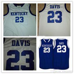 $enCountryForm.capitalKeyWord Australia - Cheap #23 Anthony Davis Kentucky Wildcats basketball Jerseys Retro vest T-shirt Stitched Personalized Custom #1 Darius Miller Jersey