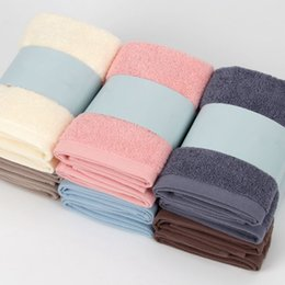 Children textile online shopping - Soft Rectangle Cotton Face Towels CM Strong Absorbent Sports Towel Fast Drying Washcloth Home Textiles Supplies TTA302