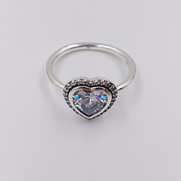 Love Ring Australia - Authentic 925 Sterling Silver Rings Sparkling Love Ring Fits European Pandora Style Jewelry -P