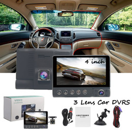 $enCountryForm.capitalKeyWord Australia - 4 Inch Video Car DVR 3 Lens 1080P Recorder 170 Degree Wide Angle Monitoring With Gravity G-sensor Multiple Modes Vehicle Camcorder