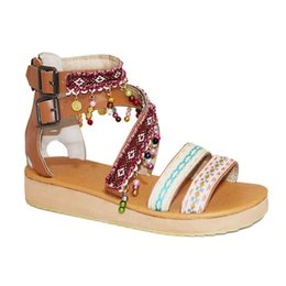 $enCountryForm.capitalKeyWord Australia - Pzilae sandal flat shoe open toe platform sandal wedges shoe for women sandale sexy string bead multicolor summer womans