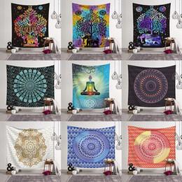 Bohemian tapestries online shopping - 14 Styles Bohemian Mandala Tapestry Beach Towel Shawl Printed Yoga Mats Polyester Bath Towel Home Decoration Outdoor Pads CCA11526