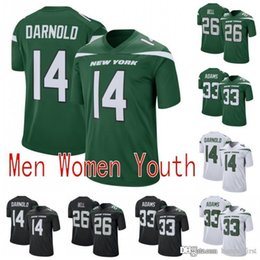 New game color online shopping - 26 Le Veon Bell New York Mens Jets Jersey Sam Darnold Jamal Adams NEW Color Rush Game Green White Football Men Women Youth K