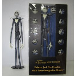 35 Figure Australia - Jack Action Figure The Nightmare Before Christmas Figures 35 Cm Comic Model Support Change Face Movable New 70jx D1