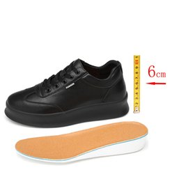 heightening shoes women UK - Shoes Men Sneakers Elevator Shoes Heightening Height Increase for Men Insole 6CM Casual White Women Couple