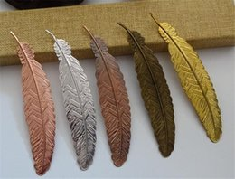 gift bookmarks UK - Metal Feather Bookmark Chinese Style Vintage Page Nice Cool Book Markers School Supplies Party Wedding Gifts For Guests