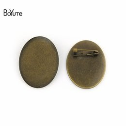 $enCountryForm.capitalKeyWord UK - cabochon base BoYuTe 10Pcs Oval 30*40MM Cabochon Base Blank Tray Settings Oval Antique Bronze Plated Vintage Brooch Blanks