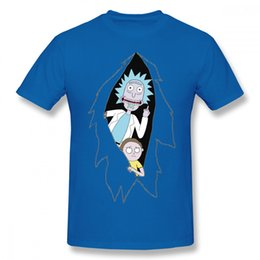 popular t shirt designs 2019 - Mens luxury brand designer t shirts Fashion Rick And Morty Cartoon T Shirt Man Popular Design Tee Shirt Round Neck Plus