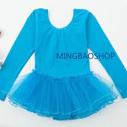 $enCountryForm.capitalKeyWord NZ - Ballet Dress for Kids Gymnastic Ballet Dress Summer Long Sleeve Lace Dancing Costume Leotards Tutu Skirt Professional