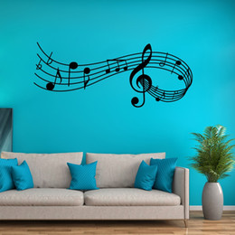 $enCountryForm.capitalKeyWord UK - Creative Music Wall Decal Vinyl Music Notes Wall Sticker Decor for Living Room Bedroom and Study Music Melody Art Mural