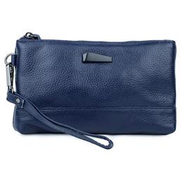 gold make up bag 2019 - Genuine Leather High Quality women Clutch bag Women Handbag mobile Phone Bag make up female Purse card wallet money disc