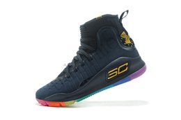 Curry 4 Shoes NZ - 2019 new HOT Stephen Curry 4 Gaobang FUNWU basketball  shoes blue c8613578c