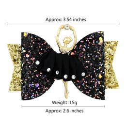 $enCountryForm.capitalKeyWord Australia - HOT SALE BULK SALE Girls Bow Hairpins Sequin Hair Clips Glitter Dance Princess Style Barrettes Kids Hair Stick Child Clips 6PCS