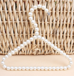$enCountryForm.capitalKeyWord Australia - New Plastic Pearl Beaded Clothes Dress Coat Hangers Wedding For Pet Kid Children Save-Space Storage Organizer