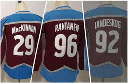 Wholesale men spandex for sale resale online - KID Personality Winter Fanatics MACKINNON LANDESNOG RANTANEN Hockey Jerseys near me Athletic fan shop online store for sale