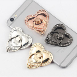 Universal Tablet Pc Holder Australia - Universal Rotating 360 Liquid Finger Grip Bling Glitter Heart Phone Stand Holder for iphone 7 8 Samsung s7 s8 android phone pc tablet