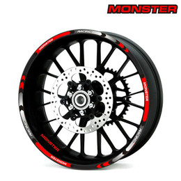 S wheelS online shopping - New high quality Fit Motorcycle Wheel Sticker stripe Reflective Rim For DUCATI MONSTER SR S4R S