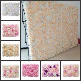 Venta al por mayor de 60x40cm cada pieza Peony Hydrangea Rose Flower Paneles de pared para bodas Telón de fondo Centros de mesa Decoraciones de fiesta 12pcs / lot