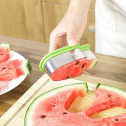 $enCountryForm.capitalKeyWord Australia - Watermelon Cutters Stainless Steel Watermelon Slice Popsicle Shape Melon Cutting Fruit Tool Cantaloupe Melon Slicer