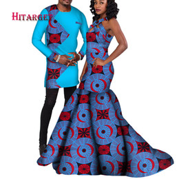 a926adb25 african couple suit men's sets and women's dress for the wedding party  traditional African clothing couples suit clothes WYQ122