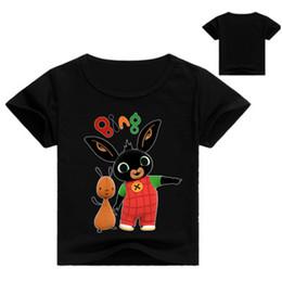 Baby Boy T Shirt Designs Australia - 2-12Y Cartoon Bing Rabbit Bunny Design Children's Funny T-Shirts Boys Girls Cute Tops Tees Kids Summer Casual Clothes For Baby
