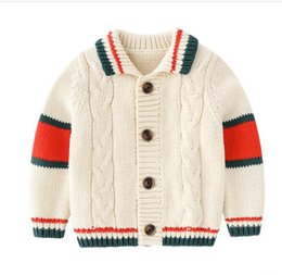 $enCountryForm.capitalKeyWord Australia - New arrival Children Clothing Baby boy girls Long Sleeve Striped Sweater New Born Cardigan Sweater for 0-3 yrs old Free Shipping