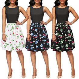 Night Suit Winter Australia - Fairy2019 Xinkuan Xia Spring Suit-dress Chalaza Dress Restore Ancient Ways The 50s Printing Hertz Basis Skirt