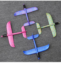 Toy Frisbee Australia - Children Foam Aircraft Toys Hand Thrown Gliding Aircraft Model Detachable Foldable Model Airplane For Kids Outdoor Toys Gifts Hot Sale 2087