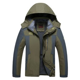 $enCountryForm.capitalKeyWord Australia - Mens Plus Size Autumn Fleece Jacket Waterproof Windbreaker Warm Coat Hooded Jackets Casual Outdoor Jackets Overcoat