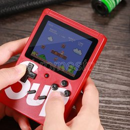 Wholesale One player SUP game box Chirldren Christmas gift Handheld game Console Portable Mini Game machine 400 Classic video games colorful screen