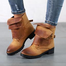 Knights Boots NZ - 2018 fashion Knight boots autumn Winter low heel women shoes woman fashion martin boots Punk PU women boots 559