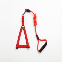 $enCountryForm.capitalKeyWord Australia - Explosion dog foam chest strap multicolor handle round rope nylon material wear traction rope pet supplies factory direct sales