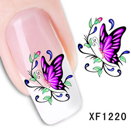 $enCountryForm.capitalKeyWord Australia - waterproof Water Transfer Nails Art Sticker Beautiful cartoon butterfly design girl and women manicure tools Nail Wraps