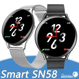Smartwatch clock online shopping - 2019 SN58 Smart Watch Men Heart Rate Blood Pressure IP68 Waterproof Tracker Clock Smartwatch Compatible Wearable Devices