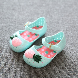 $enCountryForm.capitalKeyWord Australia - Mini Pineapple Fruit Hole Summer Jelly Children's Shoes Hot Sale Plain Rain Boot Baby Children Toddler Kids Sandals