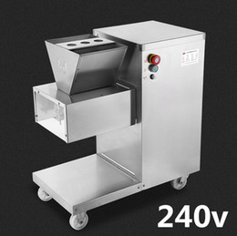 food process machine UK - Wholesale - Free shipping 750w 240v QW meat cutting machine,meat slicer,meat cutter,800kg hr meat processing machinery