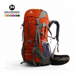 Water Resistant Nylon Bag Australia - Maleroads 60L Outdoor Sports Backpack Hiking Camping Water Resistant Nylon Bike Rucksack Bag With Rain Cover #751762